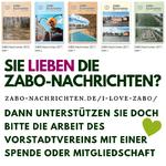 Sie lieben die Zabo-Nachrichten? Dann unterstützen sie doch bitte die Arbeit des Vorstadtvereins mit einer Spende oder Mitgliedschaft