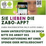 Sie lieben die Zabo-App? Dann unterstützen sie doch bitte die Arbeit des Vorstadtvereins mit einer Spende oder Mitgliedschaft